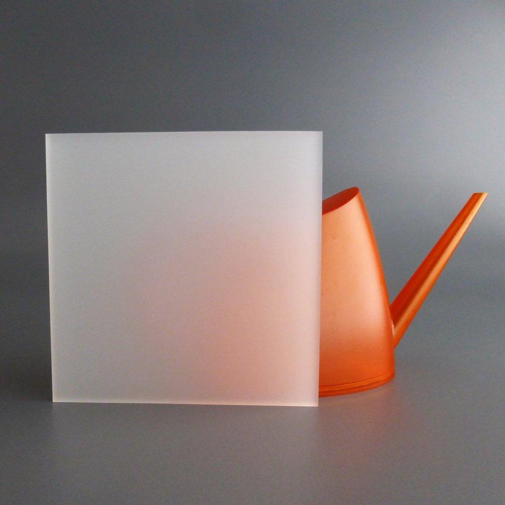 lobotec-acryl PLEXIGLAS Zuschnitt Acrylglas Zuschnitt 3-10mm wei/ß satiniert Snow 5mm, 250 x 500 mm